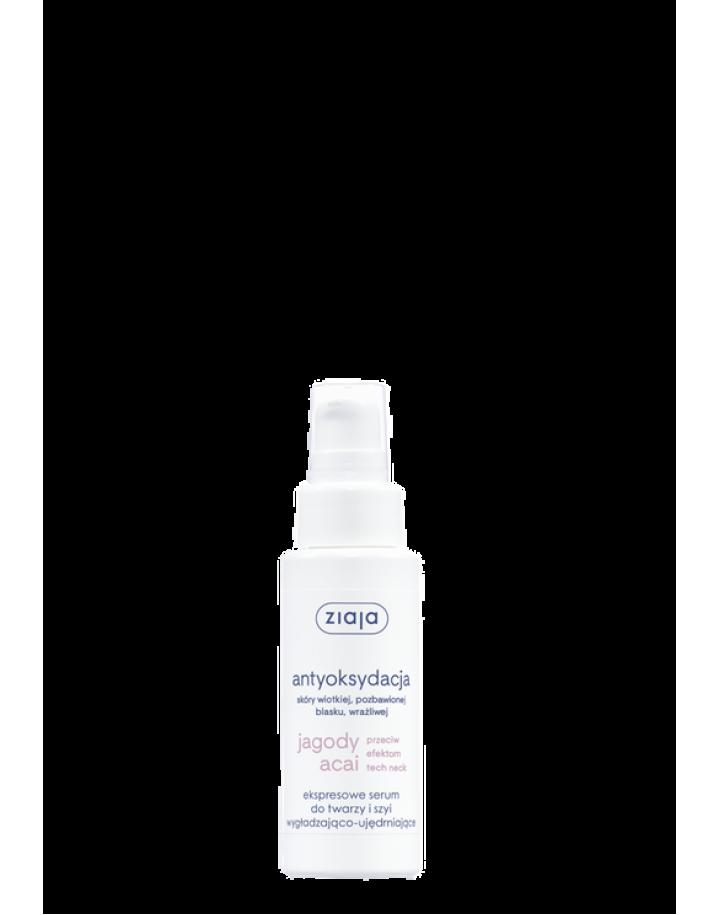 Ekspresowe serum do twarzy i szyi wygładzająco-ujędrniające 50ml