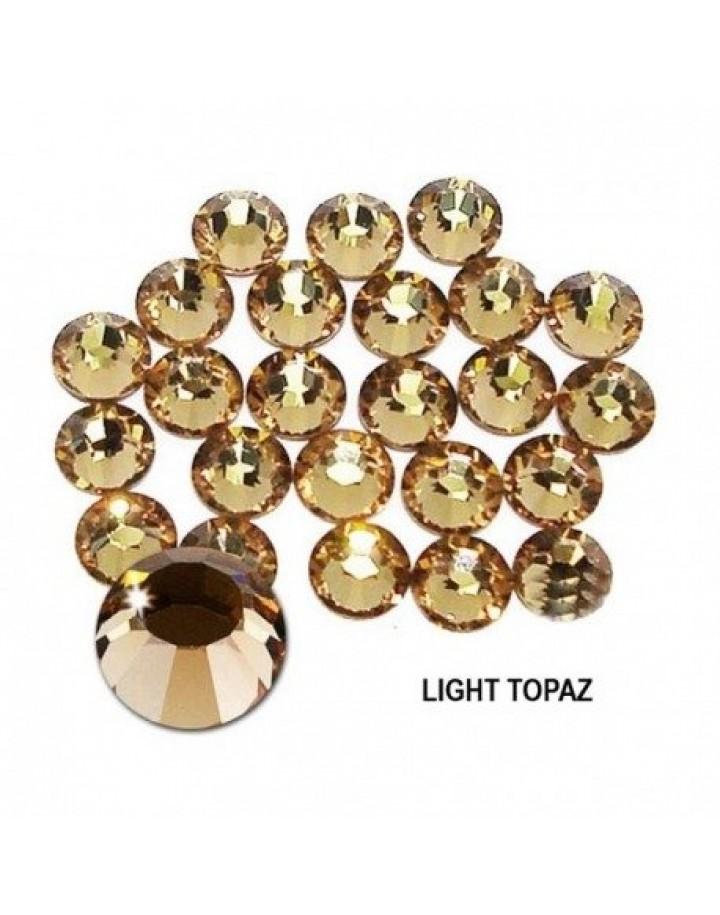 Cyrkonie Light Topaz SS4(1,5mm) 100 sztuk