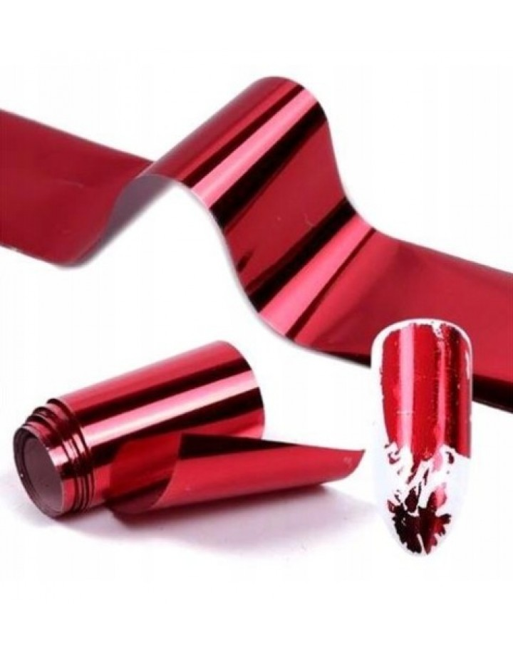 Folia transferowa czerwona 10cm