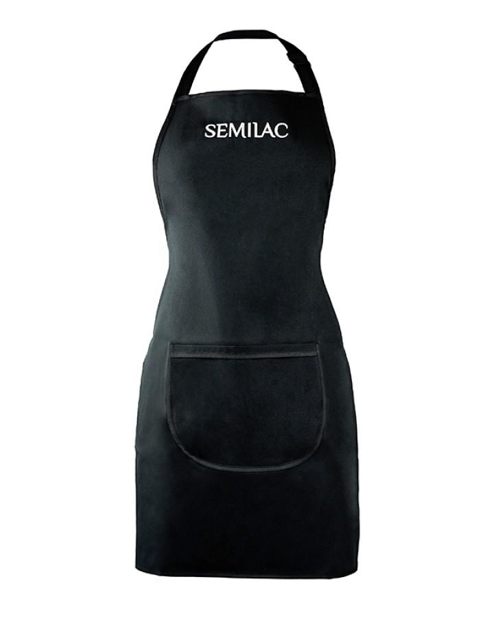 Fartuszek czarny z białym logo Semilac