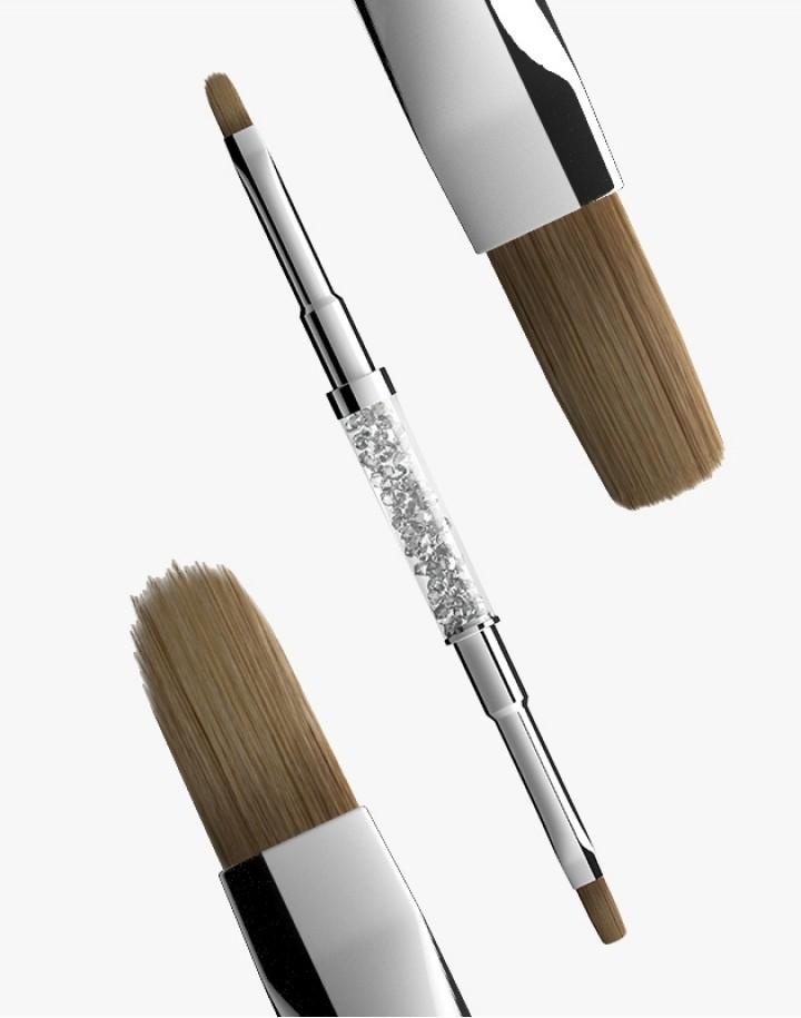 Pędzelek N 4 (flat+oval) Semilac Gel Brush