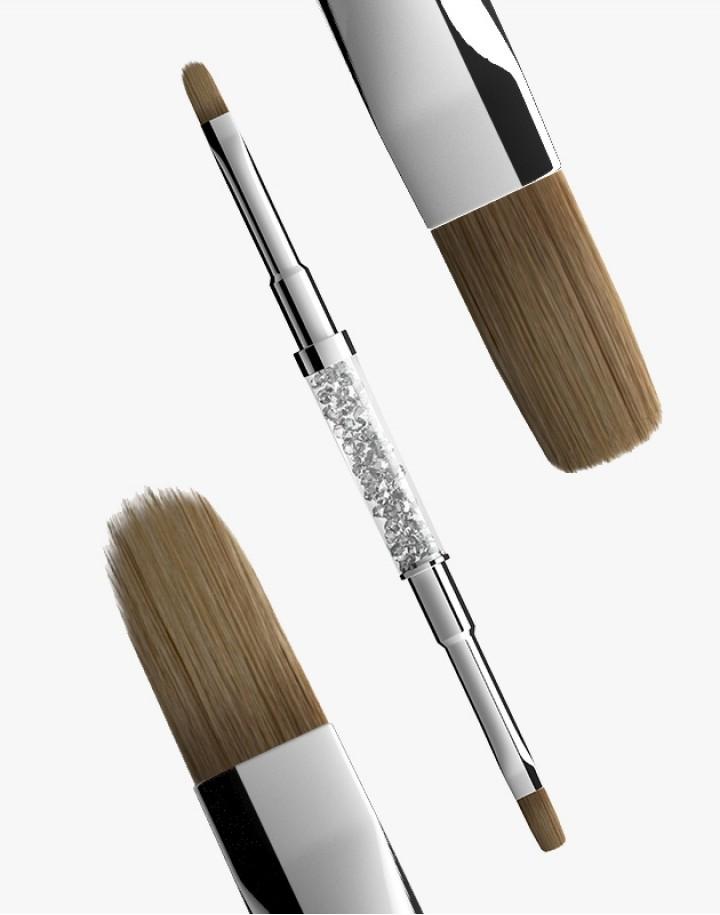 Pędzelek N 6 (flat+oval) Semilac Gel Brush
