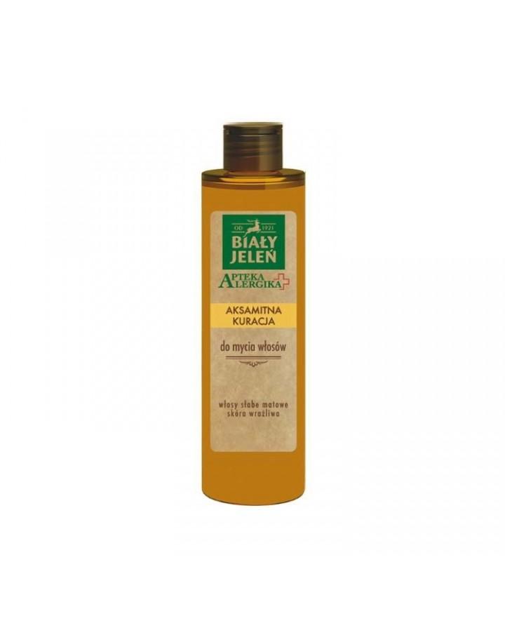 Aksamitna kuracja do mycia włosów Apteka Alergika 250 ml