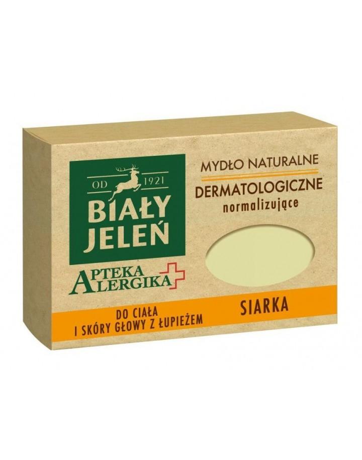 Mydło dermatologiczne z siarką Apteka Alergika 125 g