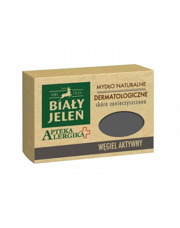 Mydło dermatologiczne z węglem aktywnym Apteka Alergika 125 g