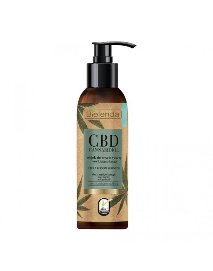 Olejek do mycia twarzy z CBD z konopi siewnych - cera sucha, wrażliwa 140 ml