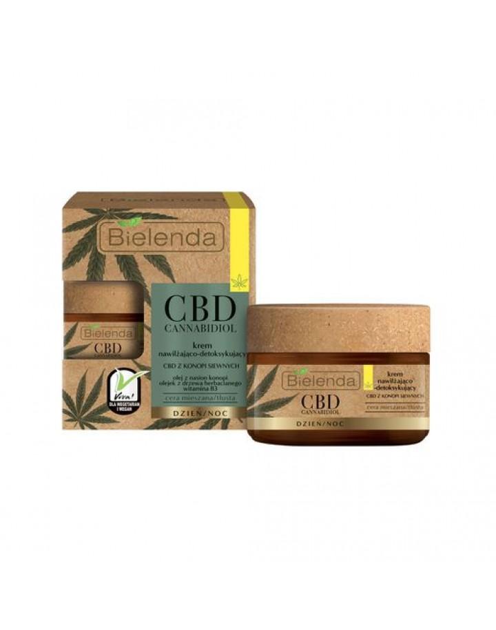 Krem nawilżająco-detoksykujący z CBD z konopi siewnych cera mieszana, tłusta 50 ml