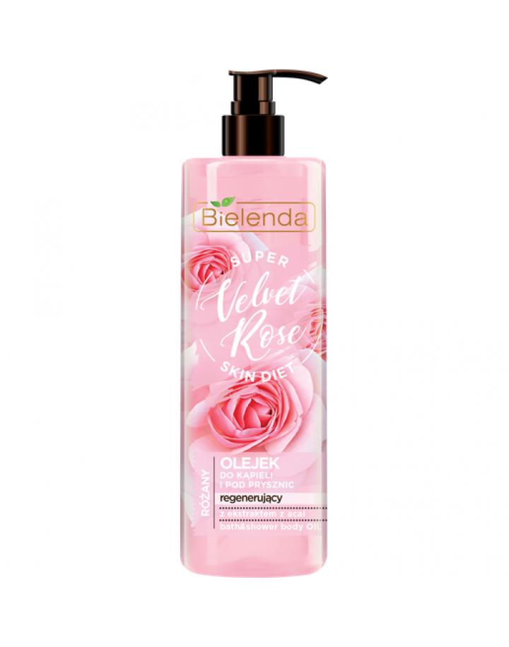 Regenerujący olejek do kąpieli i pod prysznic Róża 400 ml