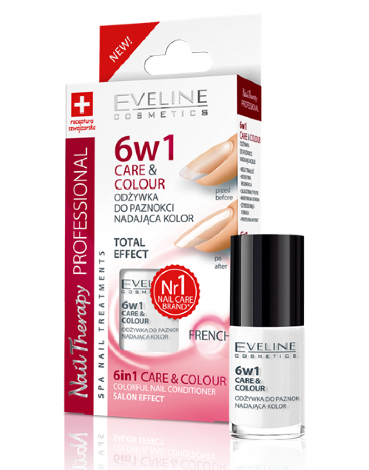 Odżywka do paznokci nadająca kolor 6w1 FRENCH