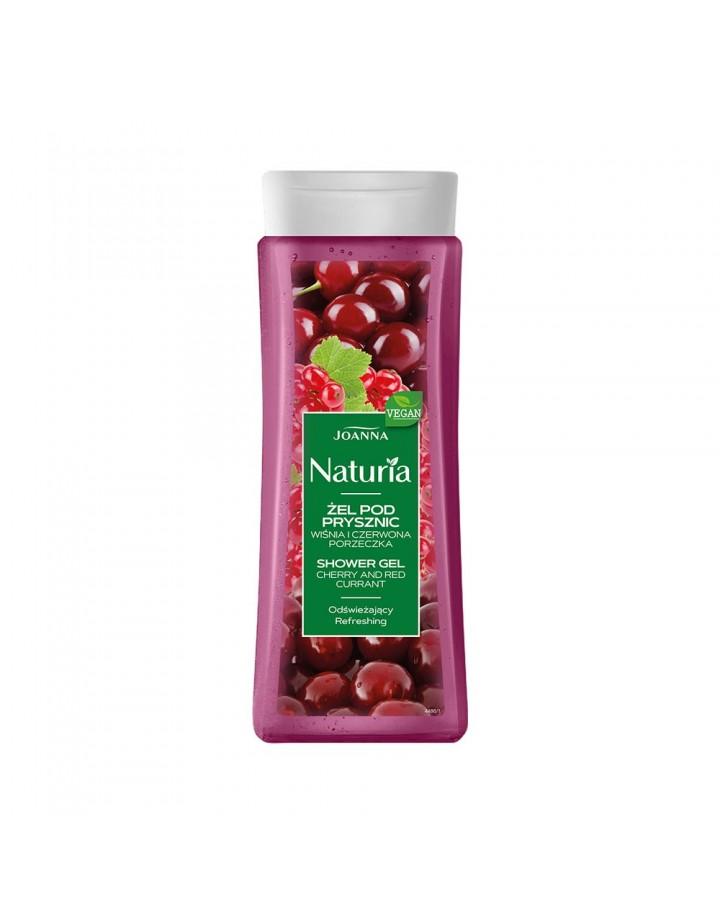 Żel pod prysznic NATURIA wiśnia i czerwona porzeczka 300 ml