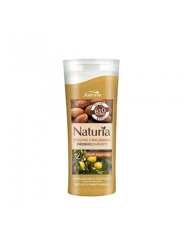 Peeling NATURIA z balsamem drobnoziarnisty Olejek arganowy 100g