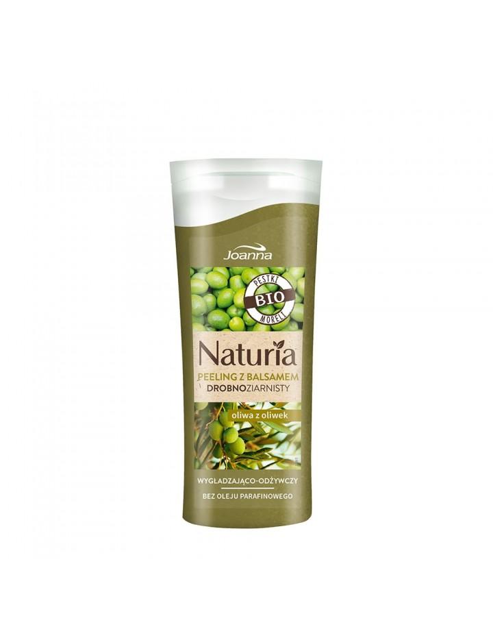 Peeling NATURIA z balsamem drobnoziarnisty Oliwa z oliwek 100g