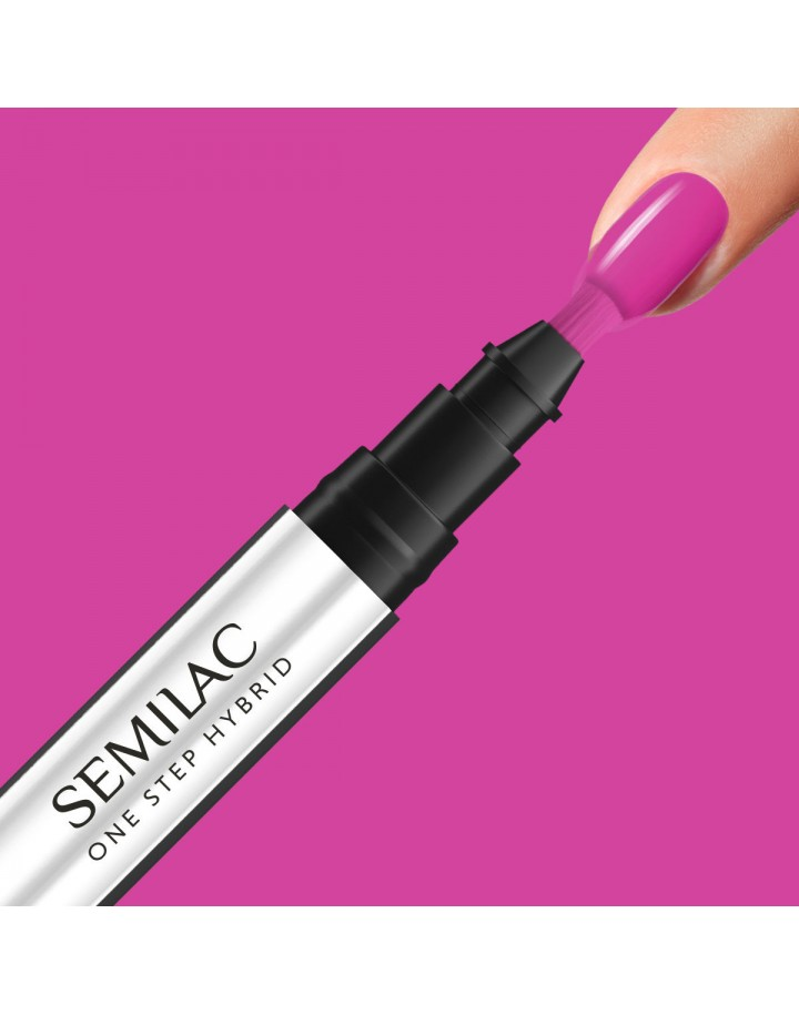 S685 ONE STEP HYBRID PINK PURPLE 3ML SEMILAC