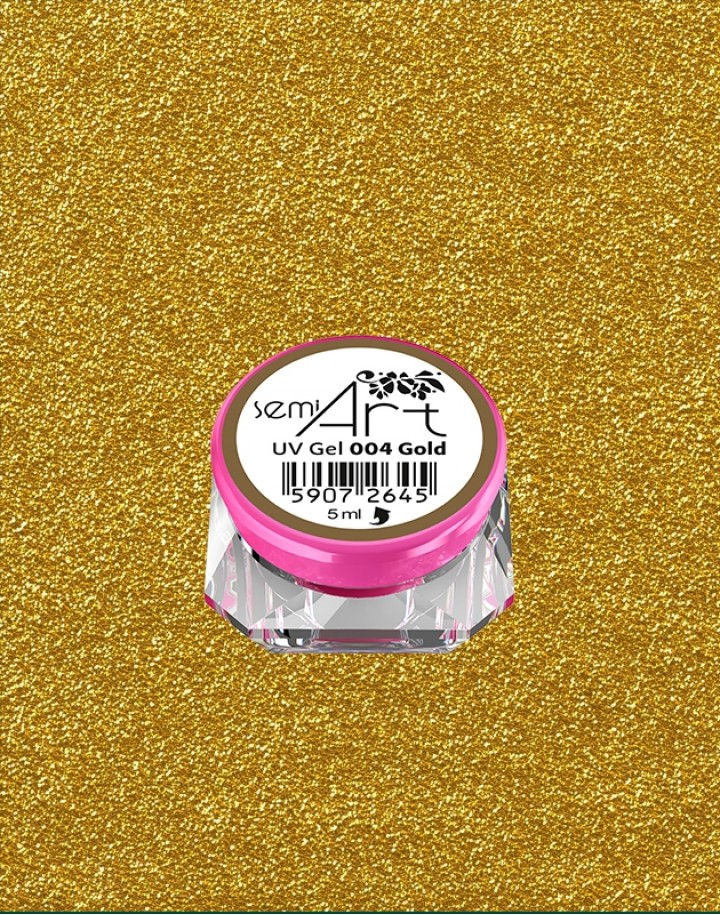 Semi Art UV Gel 004 Gold