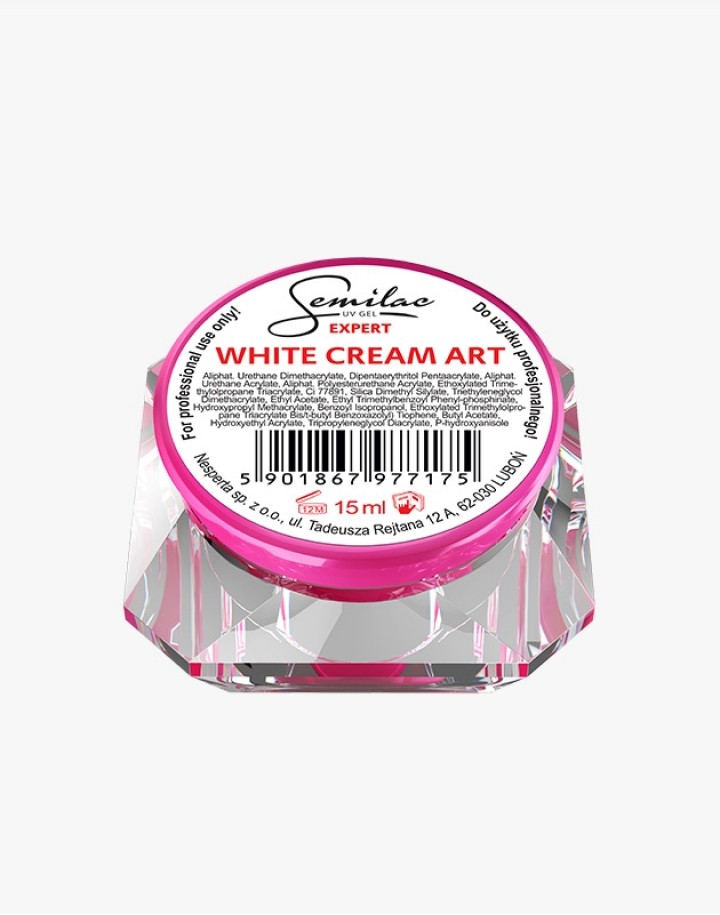 Semilac UV Gel Expert White Cream Art 15ml