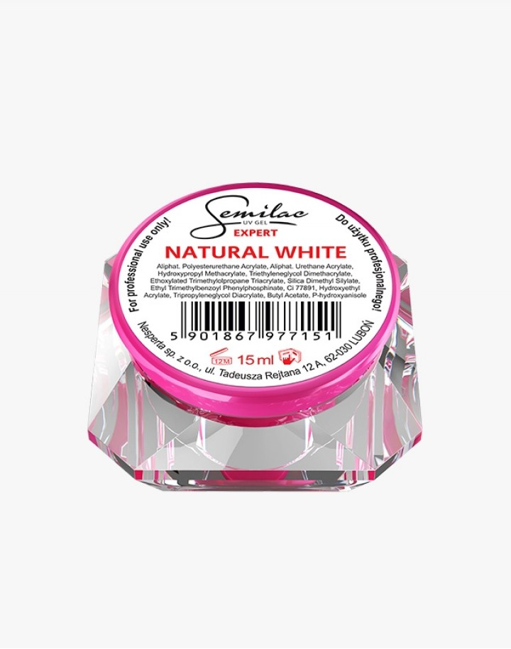 Semilac UV Gel Expert Natural White 15ml