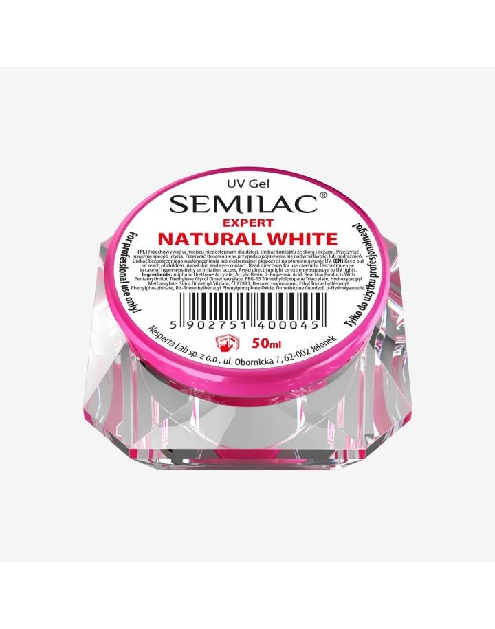 SEMILAC UV GEL EXPERT NATURAL WHITE 50ML