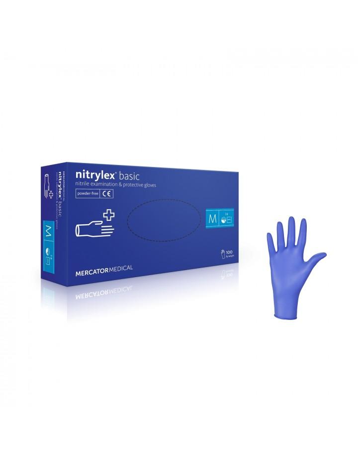 Rękawice nitrylowe bezpudrowe L 100szt Nitrylex